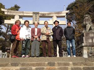武田神社にて