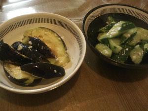 水茄子&きゅうりの塩麹漬け
