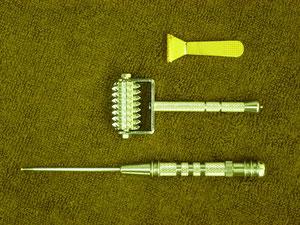 つるかめ鍼灸養生院の小児鍼の道具