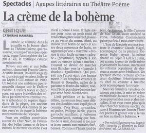 Catherine Makereel, Le Soir 11 décembre 2004