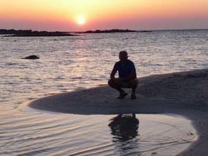 Sonnenuntergang am Strand von Elafonisi