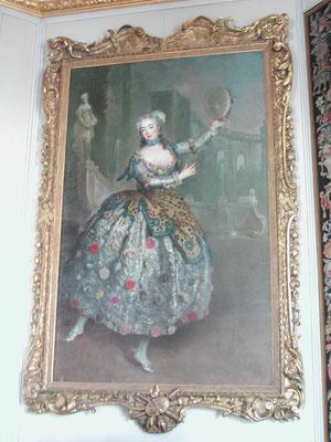 'Barbara Campanini', Antoine Pesne, ca. 1745, Charlottenburg Palace, Berlin. Rococo Masquerade Costume. picture taken by Nina Möller