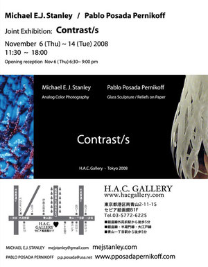 For the Contrasts exhibition, HAC Gallery