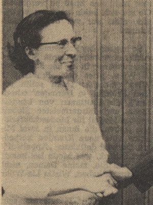 Unsere langjährige 1. Vorsitzende und Gönnerin des NABU Bad Hersfeld: Frau Oberstudienrätin Wiltrud Winterstein (1923 - 2005).