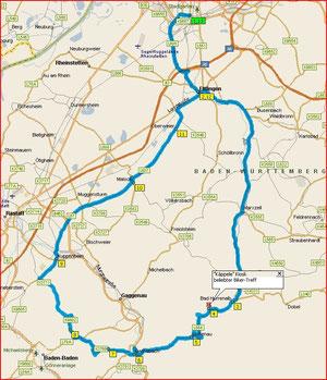 """kleine Samstagnachmittags-Tour (85 km) mit Pause am """"Käppele"""""""