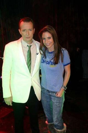 Musician Scott Weiland and Good Day NY's Jill Nicolini
