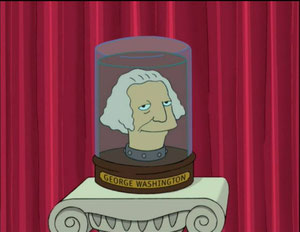 George Washington as a Futurama Jarhead