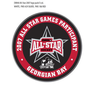 Commemorative puck designed for the All Star Game
