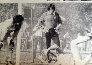 Pierrick HIARD à l'entrainement de l'équipe de France avec ...Ivan Curkovic