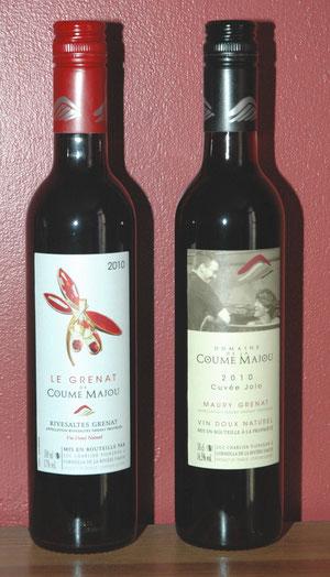 """Deux Vins Doux Naturels de type """"grenat"""""""