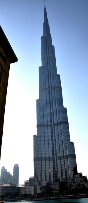 Der Khalifa kurz vor Sonnenaufgang