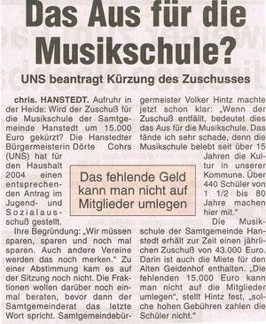 Nordheide Wochenblatt 24.12.2003