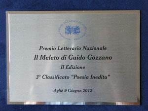 """Literary Prize """"Il Meleto di Guido Gozzano'' - Agliè (Torino) - June 2012"""