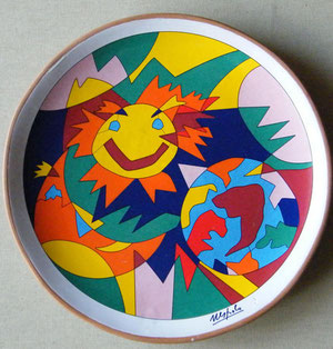 Piatto di Ugo Nespolo, 1995