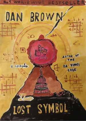 Art Work by Valon Firza, class VIII/7 - tempera on paper - Novel: The Lost Symbol by Dan Brown