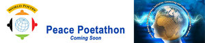World Poetry - Canada logo and the title Peace Poetathon