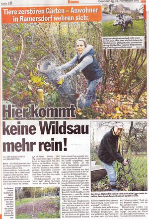 Wildschweine in Bonn