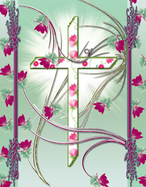 White Flower Cross