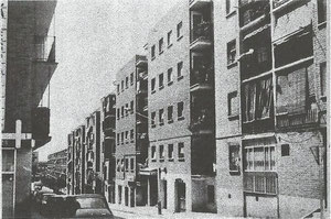 Calle Princesa vista desde arriba años 70