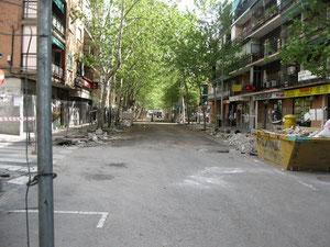 Obras de peatonalización calle Mayor año 2009