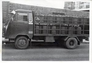 Años 70, camión del butano de Alberto