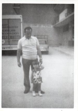 1974 al fondo el antiguo colegio virgen de Fátima ahora cadena Q