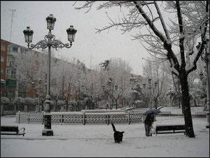 Plaza de la hispanidad año 2005. fotografía de David Montero