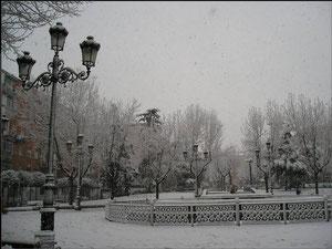 Plaza de la hispanidad año 2005. Fotografía de David Montero.