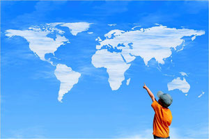 Suche dir untenstehend den Kontinent und das gewünschte Land aus !