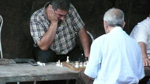Joueurs d'échecs - Photo prise en Arménie