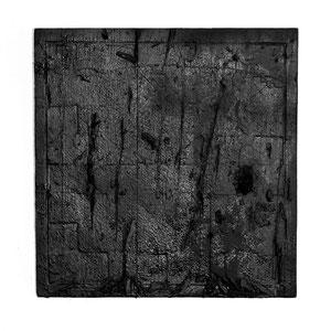 Leipzig_GER | 2013 >>DIE 2.HAUT; IMPERATIV<< [ oiled, burned, hacked wood_32 x 32 centimeters ]