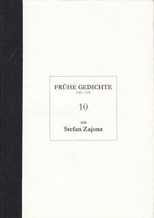 Stefan Zajonz, FG, Poesieheft Bd.10 / Deutpols 18.11.2001, Bonn-Bad Godesberg
