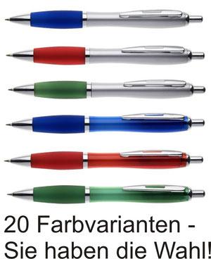 Kugelschreiber in 20 Farben bieten eine vielfältige Auswahl bei diesem tollen Werbegeschenk