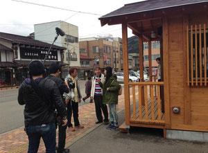 ※美濃白鳥駅前 総合バスセンターでの撮影風景