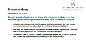 Pressemiteilung Gut Bergkramerhof 20.07.2019