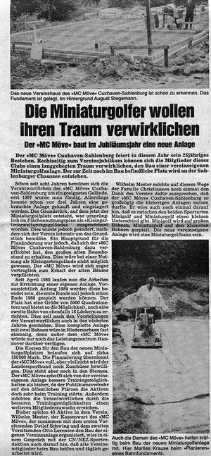 Artikel aus den Cuxhavener Nachrichten vom 19.07.1988