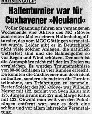 Artikel aus den Cuxhavener Nachrichten vom 12.03.1986