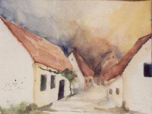 Kellergasse in der Nähe von Purbach - Burgenland