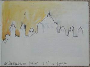 Jodhpur - Stadtpalast im Gegenlicht