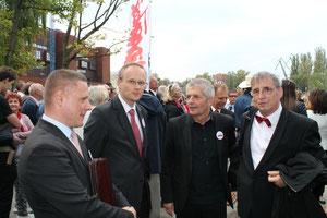 Rafał Rogulski, Łukas Kaminski, Roland Jahn, Wolfgang Templin