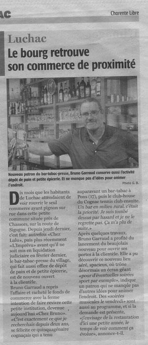 Charente Libre du 19-11-2012