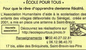 Suite à l'Assemblé Extraordinaire du 17 janvier, l'Association déménage et annonce sa venue à Saint Brevin sur le Brev'Info !