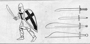 Вооружение прусского воина (полубрата) на службе у ордена