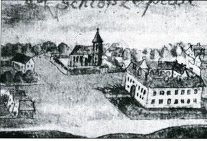 1713 г. замок Лаптау
