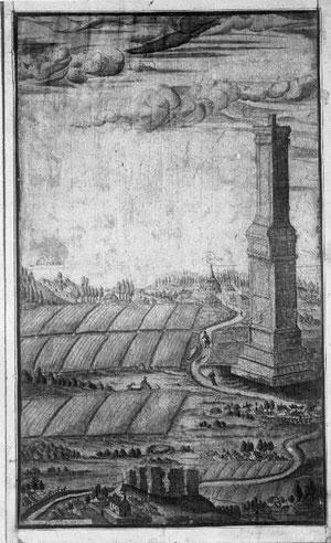 памятник сражению под Рудау, изображение 17 века