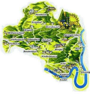 Gebietskarte VBG Kröv-Bausendorf