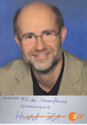 Harald Lesch (Astrophysiker und Naturphilosoph; in der Sternwarte ausgestellt)