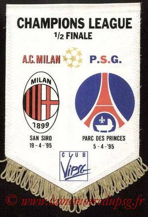 Fanion VIP  PSG-Milan AC  1994-95