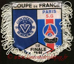 Fanion  Bordeaux-PSG  1985-86