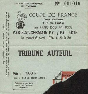 1976-04-06  PSG-Sète (8ème Finale Aller CF)